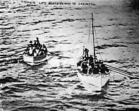 8x10 Photo: Survivors Of The Rms Titanic Disaster In Lifeboats, 1912