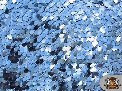 "Small Sequin Micro Teardrop Dangle Fabric ICE BLUE / 54"" Wide / Sold by the yard"