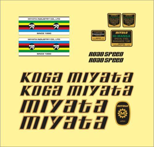 KOGA MIYATA 1979 ROAD SPEED FRAME DECAL SET