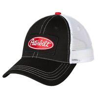 Peterbilt Motors Trucks Patch Trucker Mesh Black Snapback Cap/hat