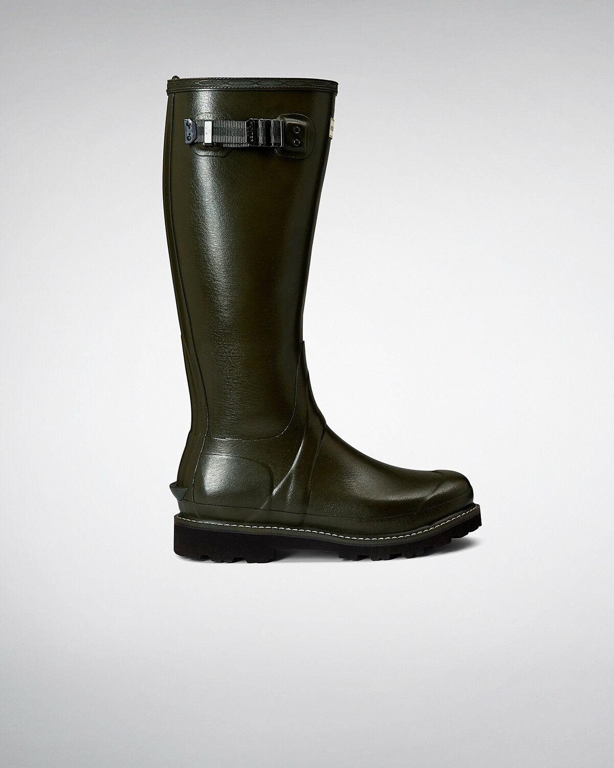 Hunter Wellington Boots Wellies Womens Balmoral Poly Lined Olive Size 8 Eu 42