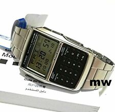 New Genuine Casio DBC-32D-1A DBC 32D Databank Calculator Stainless Steel Watch