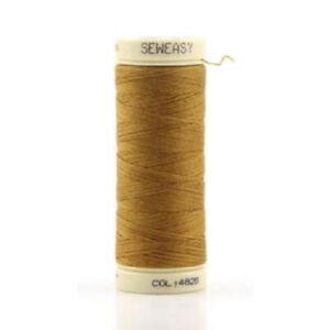 Organic-Cotton-Sewing-Thread-200M-Col-4826-Light-Mustard-Jeans-Thread-SEW-EASY