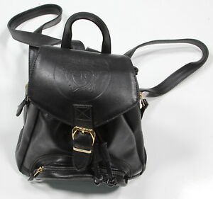 Image is loading GIANNI-VERSACE-Vintage-1994-Black-Leather-Medusa-Logo- d92a45215d6d7