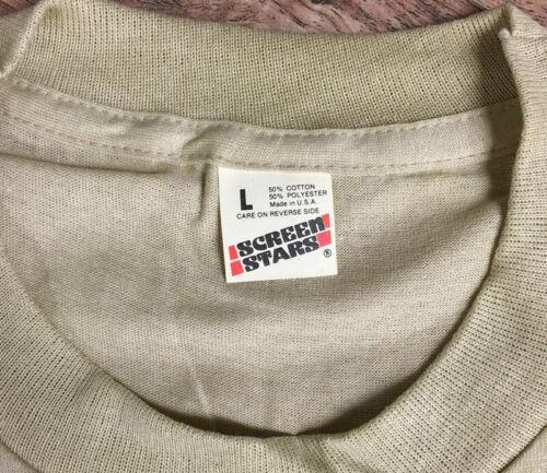 Vintage Screen Stars T-Shirt Blank Plain Deadstock LG Green Soft Thin USA