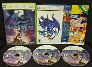 Blue-Dragon-XBOX-360-Game-Rare-All-3-discs-Rare-DragonBall-DBZ-Working
