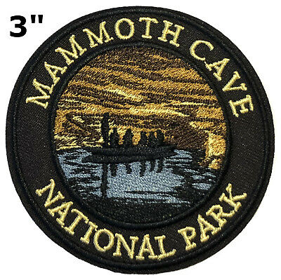 Sew-On Compass Applique Glacier National Park Embroidered Patch Iron-On