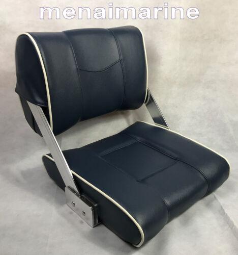 Flip Back Reversible Helm boat seat Blue