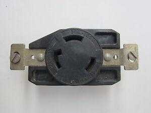 ARROW HART L6-30 250 V 30 Amp ORANGE Hart Lock Receptacle L6 30