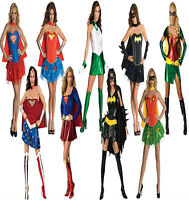 Female Women Adult Licensed Superhero Fancy Dress Costume Halloween Outfit New