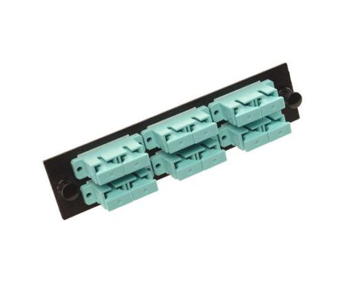 24 Ports – 4018 10 Gig Multimode 6 SC Duplex Fiber Optic Adapter Panel