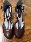 Caravelle Brown Mary Jane Leather Shoes UK 5