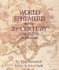 World Ephemeris 20th Century-1900-2000 Para Research-Astrology
