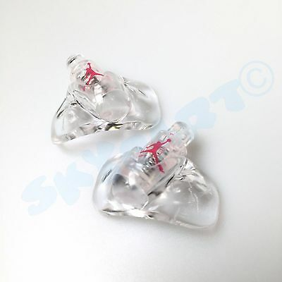Fashion Jewelry Clever 1 Pair New Jordan 5 Clear With Red Jumpman Replacement Lace Locks Fire Red Off