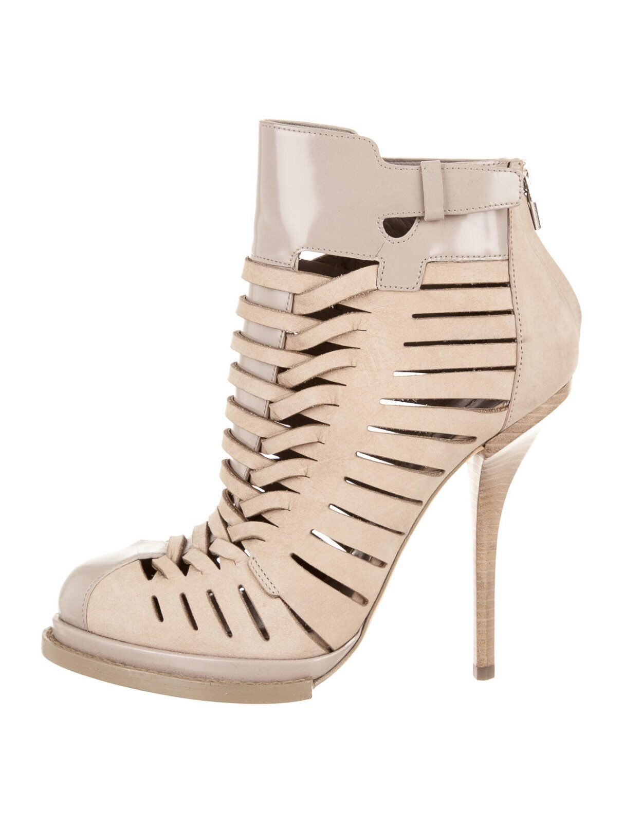 CRAZY COOL, SOLD OUT, NEW CLAY LEATHER CAGE ALEXANDER WANG BOOTIES