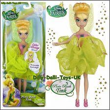 "NEW Disney Fairies Pixie Tink Tinkerbell 9"" Doll Figure Tinker Bell & Bath Puff"
