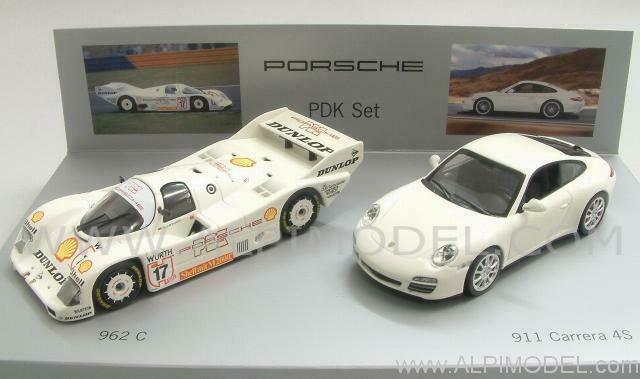Porsche pdk Set - 962c - 911 Carrera 4s 1 43 Minichamps wap020set21