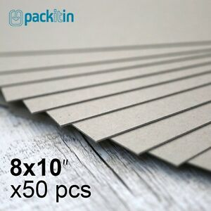 8x10-034-Backing-Boards-50-sheets-700gsm-chipboard-boxboard-cardboard-recycled