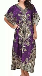 Ladies New summer Floral Kaftan dress African Style UK Size 12 To 24