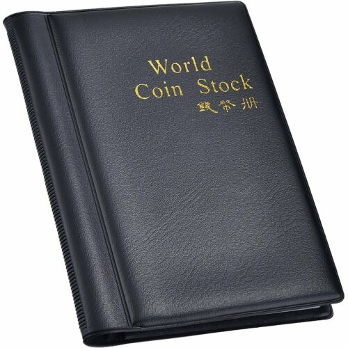 Hotop 120 Pockets Coin Holder Collection Coin Storage Album Book For Collectors,