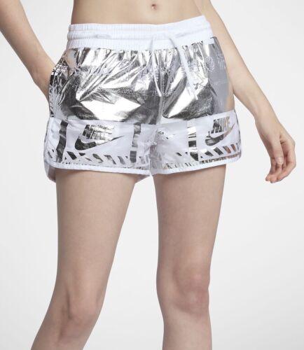 metallizzati 100 Xl Donna Nike Argento Taglia Pantaloncini Bianco Aa6647 Sportswear SxUfqf