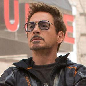 Hot Tony Stark Lunettes de soleil hommes métal Avengers IRON MAN robert downey Lunettes de soleil