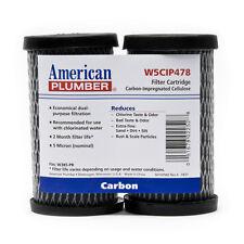 American Plumber W5CIP478 5 Micron Standard 5 Inch Undersink Filter (2 Pack)