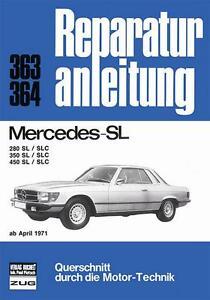 Mercedes-SL-R107-C107-280-350-450-SLC-Reparaturanleitung-Handbuch-deutsch-107