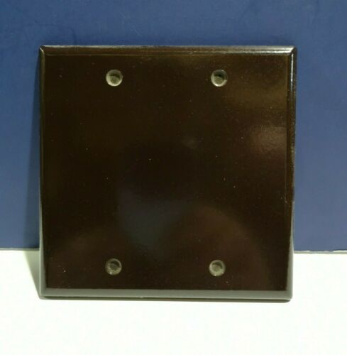 5-PK Leviton Brown Double Gang Junction Blank Box Wall Plate Cover NEW 85025 WOW