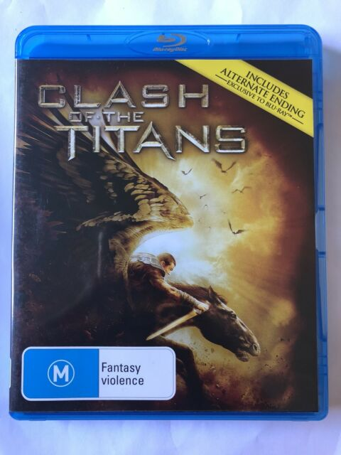 Clash Of The Titans (Blu-ray, 2010) Like New Movie 🍿 War Rated M Film