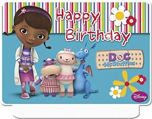Happy Birthday Disney Doc Mcstuffins Candle Party Giant Moulded Cake