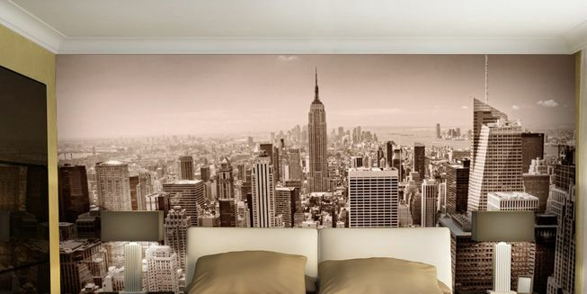 3D New York Steel Forest Paper Wall Print Decal Wall Deco Indoor wall Murals