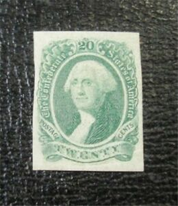 nystamps US CSA Confederate Stamp # 13 Mint OG H $45 F26x546