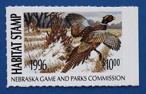 Image Is Loading U S NEH20 1996 Nebraska Habitat Stamp MNH