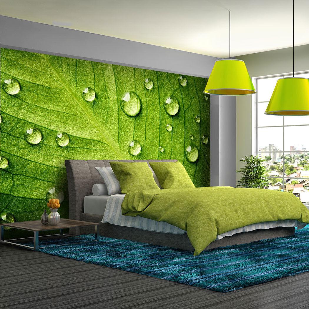 Fototapete Wände mit Blättern - Tapete Fototapeten Fürs Schlafzimmer FDB128