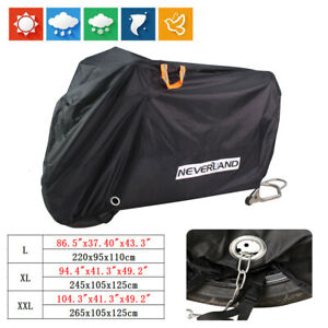 L-XL-XXL-XXXL-Motorcycle-Cover-Bike-Waterproof-Outdoor-Rain-Dust-Snow-Protector