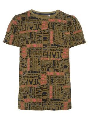 Kleidung & Accessoires Name It Jungen T-shirt Ted Oliv Khaki Allover Druck Größe 122/128 Bis 158/164