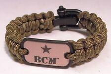 BCM Paracord Survival Bracelet Green Operators Tactical Bravo Company AR-15 SEAL