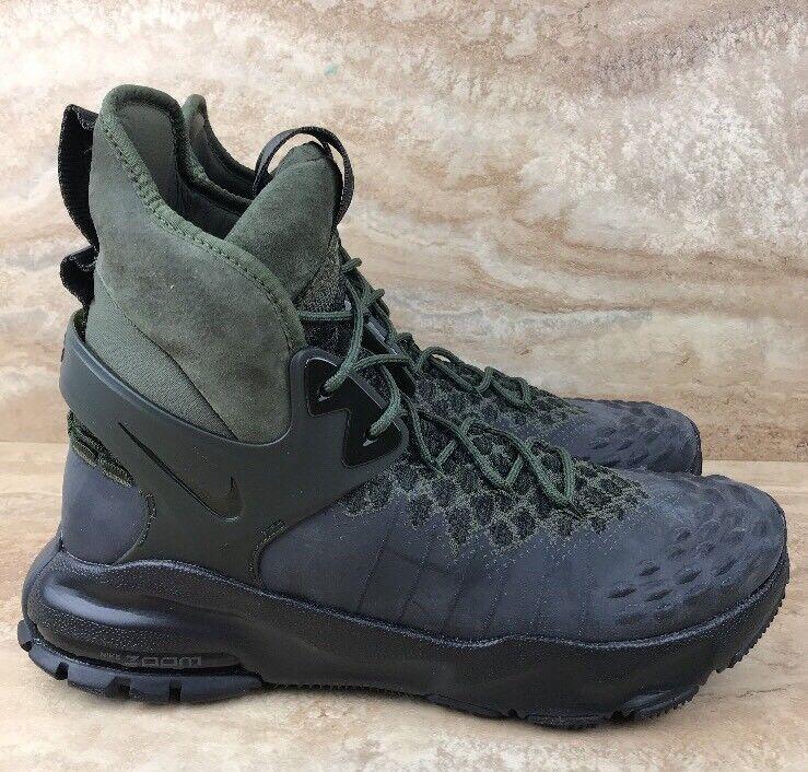 Nike Zoom sizec Flyknit ACG Black Cargo Khaki Olive Boots