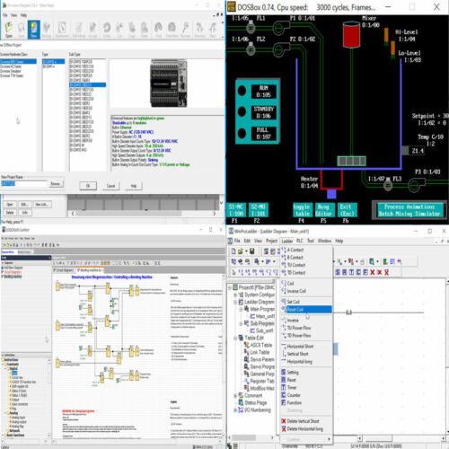 Programación Plc aprender lógica en escalera entrenamiento manuales y software de edición de principiante
