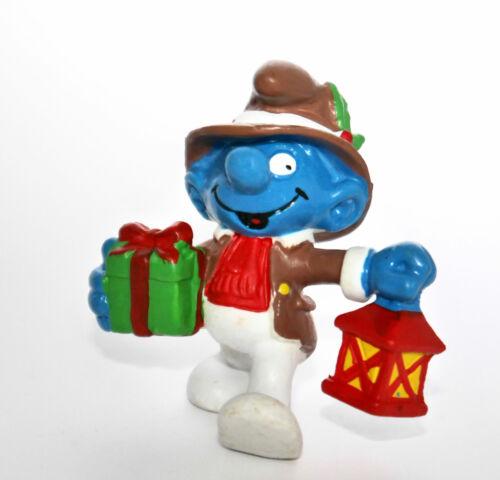 """20201-/""""Weihnachts Schlumpf mit Laterne/""""-/""""Christmas Smurf/""""-Schleich-NEU-NEW"""