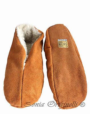 Hausschuhe echt Leder Puschen Mokassins Schluffis Leather Wollfutter B3333