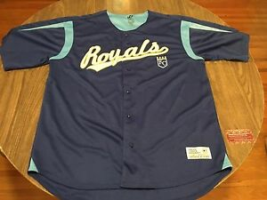 brand new b6486 7efd9 Image is loading Kansas-City-Royals-Dynasty-Series-Blue-XL-MLB-