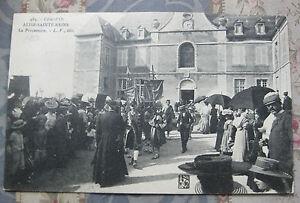 CPA-Alise-Ste-Reine-Cour-d-039-honneur-Hospice-Procession-Bourgogne