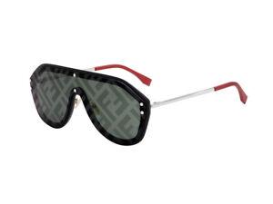 Occhiali-da-Sole-FF-M0039-G-S-nero-verde-decorato-807-XR-Fendi-Autentici