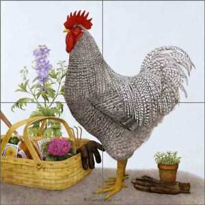 Rooster-Tile-Backsplash-Matcham-Country-Life-Art-Ceramic-Mural-RW-MM013