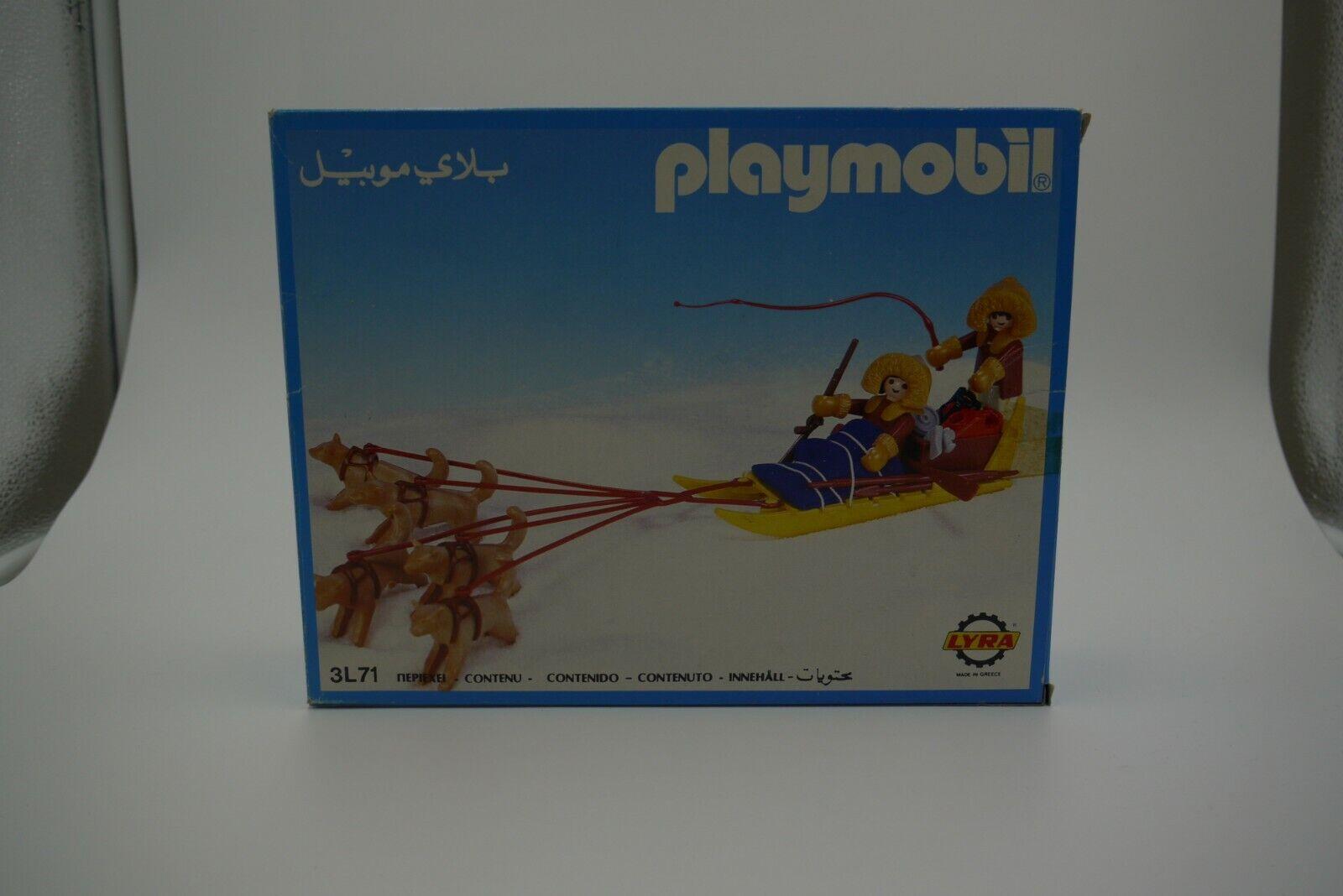 Playmobil 3L71 grec Lyra Eskimo traîneau Set Figure En parfait état, dans sa boîte
