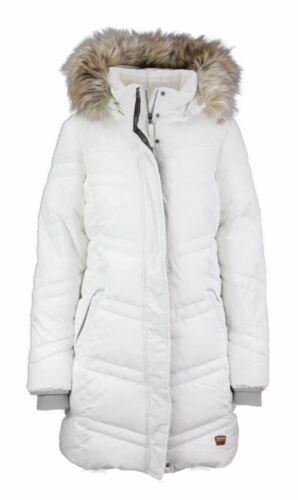 Soquesto Damen Jacke//Parker mit abnehmbarer Kapuze Farbe weiß 6100-500407