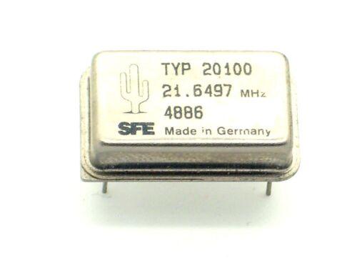 Q8 1 x SFE Quarzoszillator 21.6497MHz MHz,Quarz,Schwingquarz,Oszillator