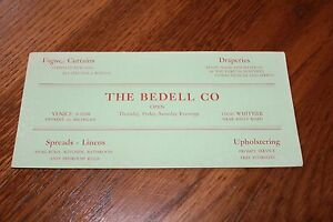 Vintage-Advertising-Ink-Blotter-Card-gt-The-Bedell-Co-Detroit-Michigan-Linens